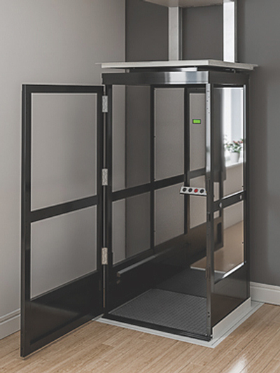 Fully enclosed lift that can carry up to two people